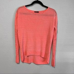 J Crew Neon Pink lightweight knit Sweater